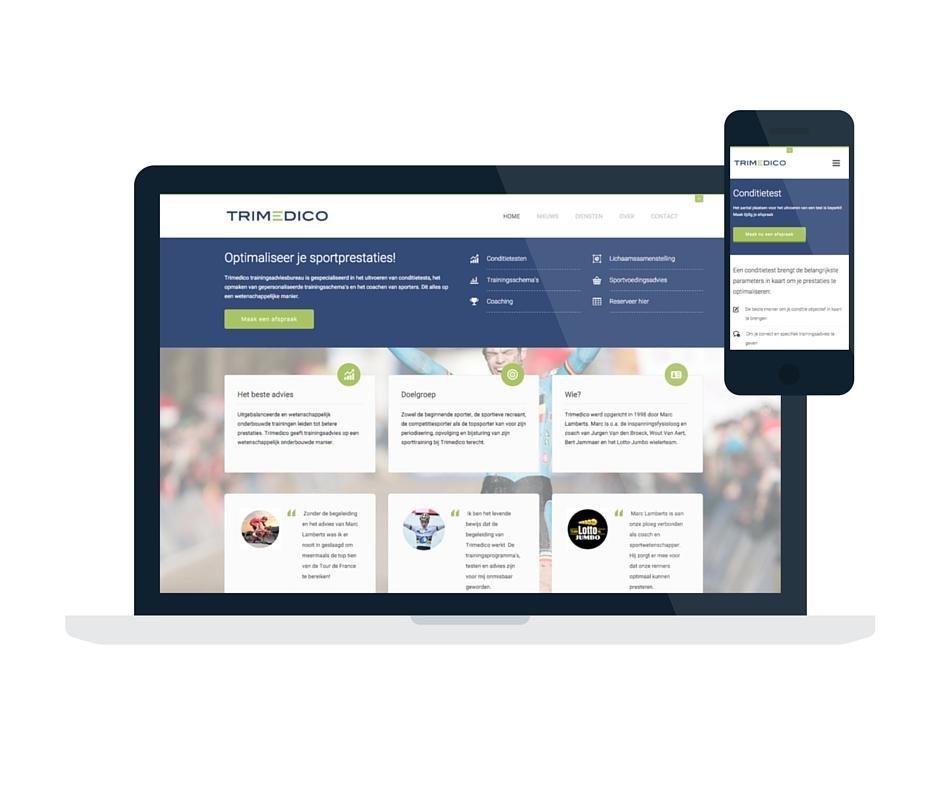 Trimedico nieuwe site